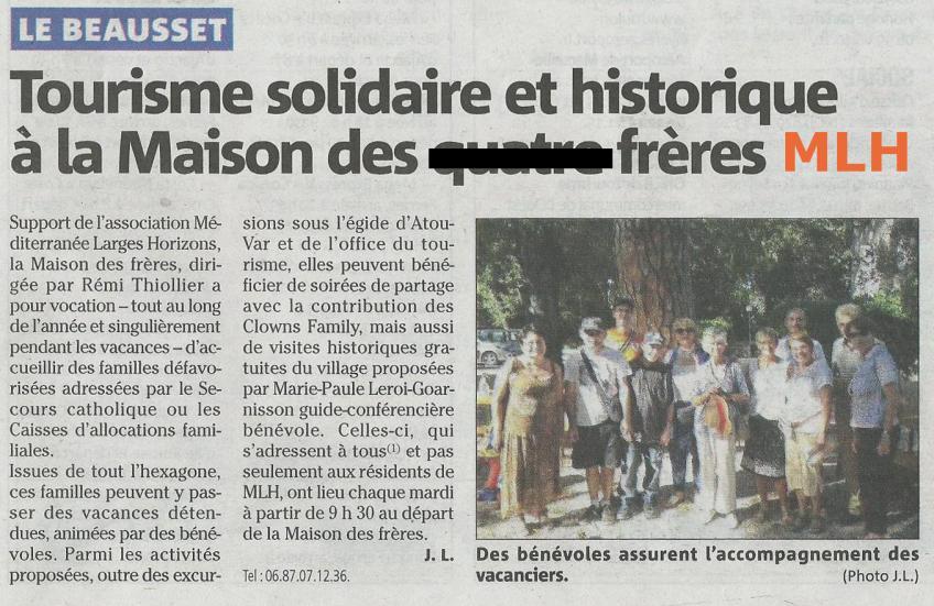 Var matin tourisme solidaire et historique 2